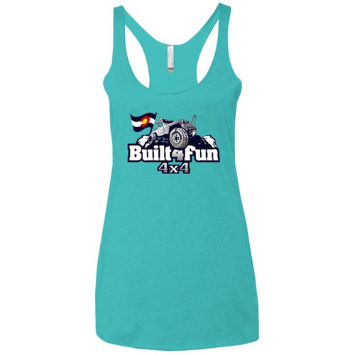 Built4Fun grey NL6733 Next Level Ladies' Triblend Racerback Tank