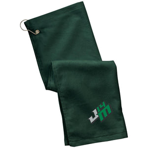 John Moul Racing embroidered logo TW51 Port Authority Grommeted Golf Towel