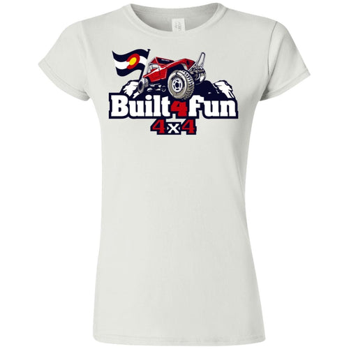 Built4Fun red G640L Gildan Softstyle Ladies' T-Shirt-FITTED