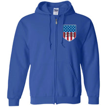 American Off-Road embroidered logo G186 Gildan Zip Up Hooded Sweatshirt