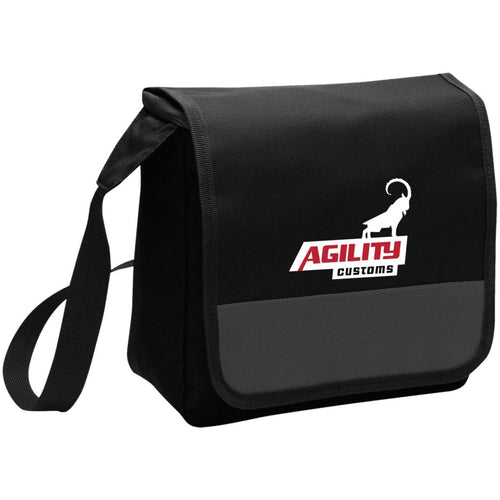 Agility Customs white logo BG753 Port Authority Lunch Cooler