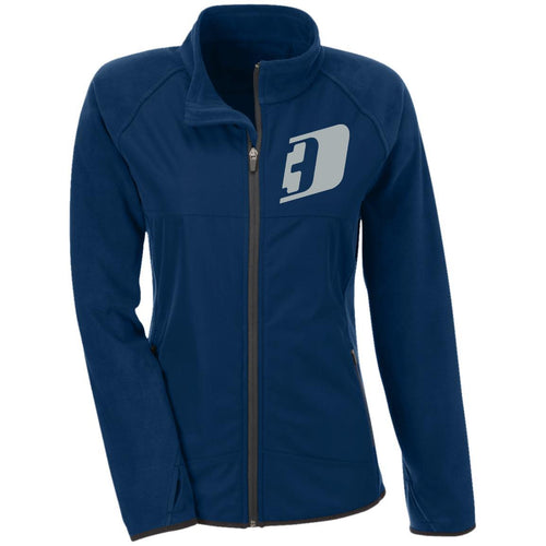 D3 silver embroidered TT92W Team 365 Ladies' Microfleece with Front Polyester Overlay