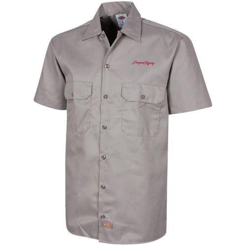 JeepnGypsy red embroidered logo 1574 Dickies Men's Short Sleeve Workshirt