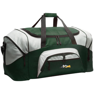 HMR embroidered logo BG99 Port & Co. Colorblock Sport Duffel