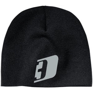 D3 silver embroidered CP91 100% Acrylic Beanie