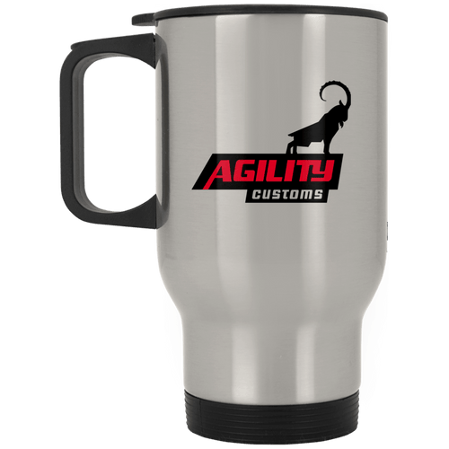 Agility Customs dye sub XP8400S Silver Stainless Travel Mug