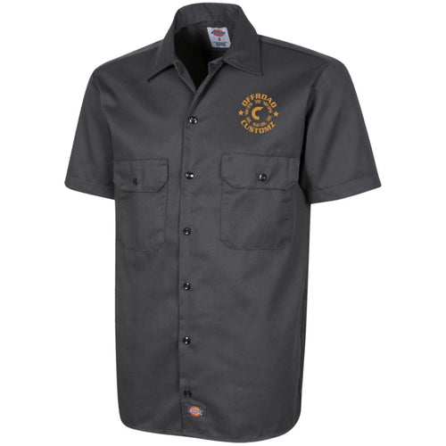 Offroad Customz gold embroidered logo 1574 Dickies Men's Short Sleeve Workshirt