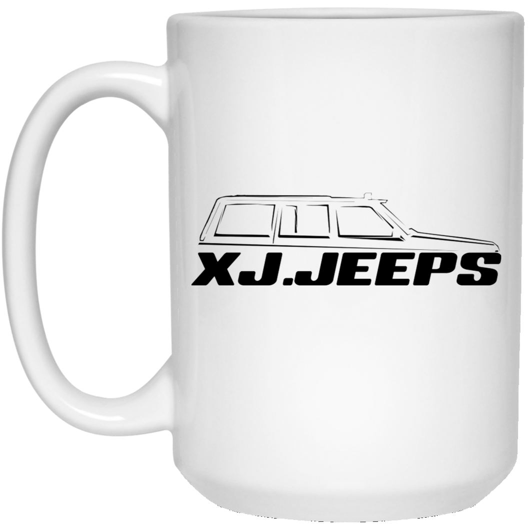 XJ Jeeps black 21504 15 oz. White Mug