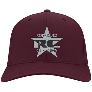 Rodriguez Customs silver and black embroidered logo C813 Port Authority Flex Fit Twill Baseball Cap