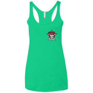 Tyler Racing 2-sided print NL6733 Next Level Ladies' Triblend Racerback Tank