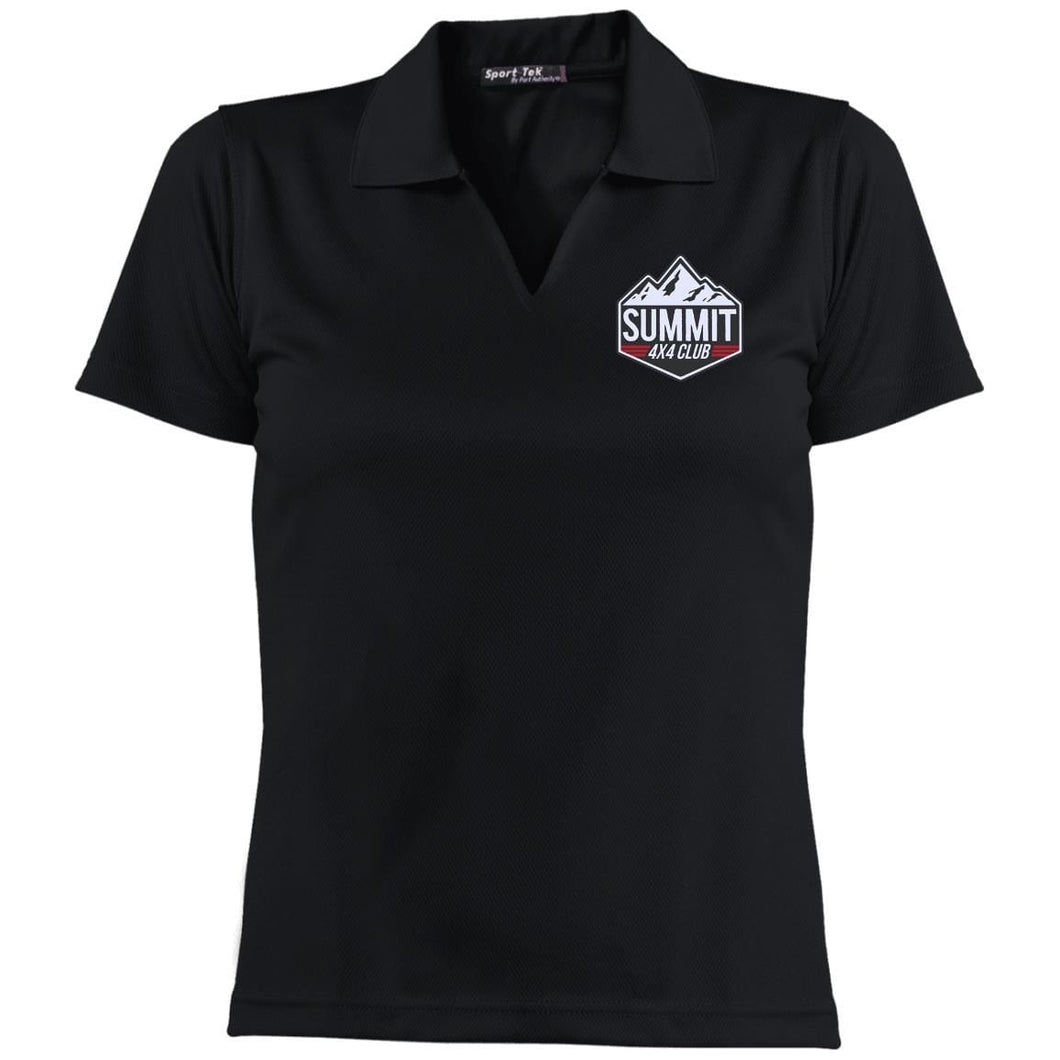 Summit 4x4 embroidered logo L469 Sport-Tek Ladies' Dri-Mesh Short Sleeve Polo