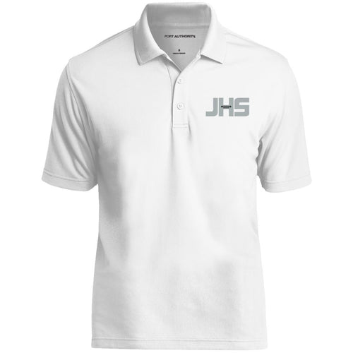 JHS silver embroidered logo K110 Port Authority Dry Zone UV Micro-Mesh Polo