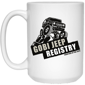 Gobi Jeep Registry Logo 21504 15 oz. White Mug