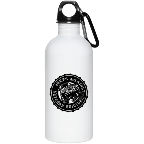 Jeeps Against Veteran Suicide 23663 20 oz. Stainless Steel Water Bottle