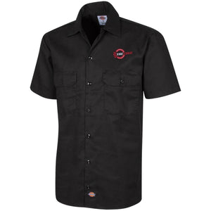 The Edge Automotive embroidered 1574 Dickies Men's Short Sleeve Workshirt