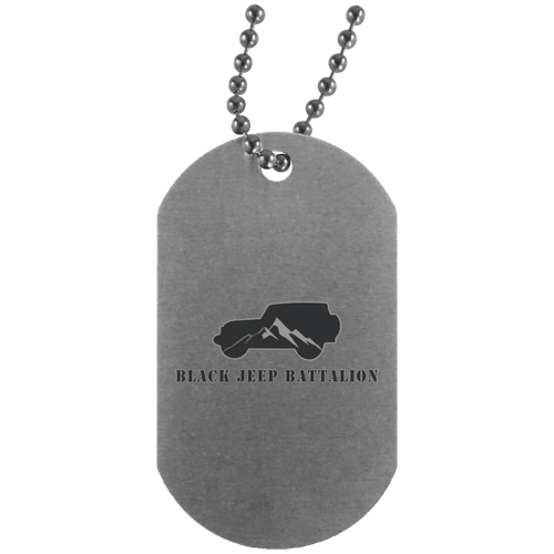 Black Jeep Battalion UN4004 Silver Dog Tag