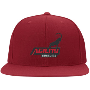 Agility Customs embroidered 6297F Fullback Flat Bill Twill Flexfit Cap