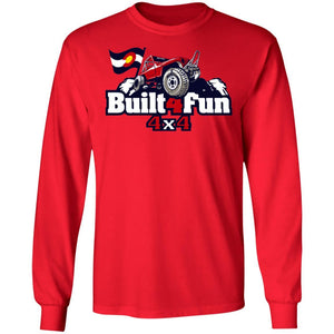 Built4Fun red G240 Gildan LS Ultra Cotton T-Shirt