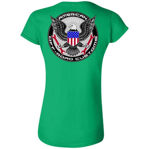 American Off-Road 2-sided print G640L Gildan Softstyle Ladies' Fitted T-Shirt