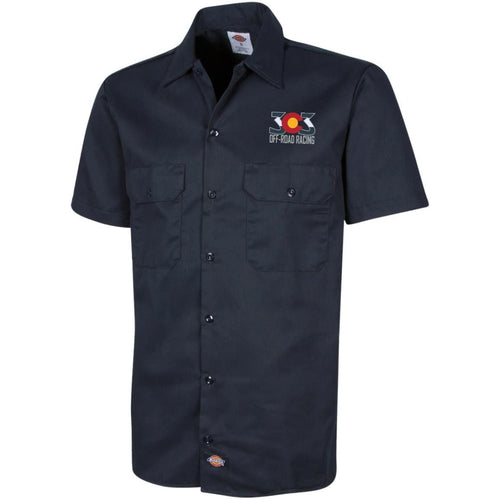 303 Off-road Racing embroidered logo 1574 Dickies Men's Short Sleeve Workshirt