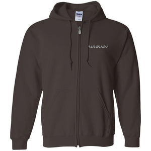 Bloodline Offroad silver embroidered logo G186 Gildan Zip Up Hooded Sweatshirt