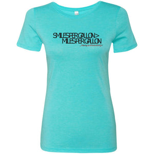 JeepDaddy Smiles Per Gallon > Miles Per Gallon Ladies' Triblend T-Shirt