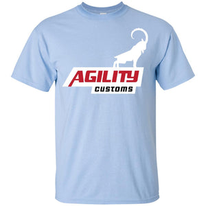 Agility Customs white logo G200B Gildan Youth Ultra Cotton T-Shirt