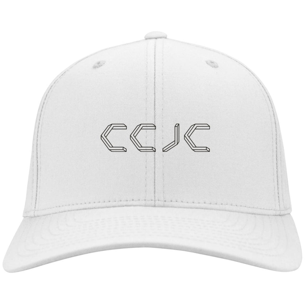 CCJC embroidered C813 Port Authority Flex Fit Fullback Twill Baseball Cap