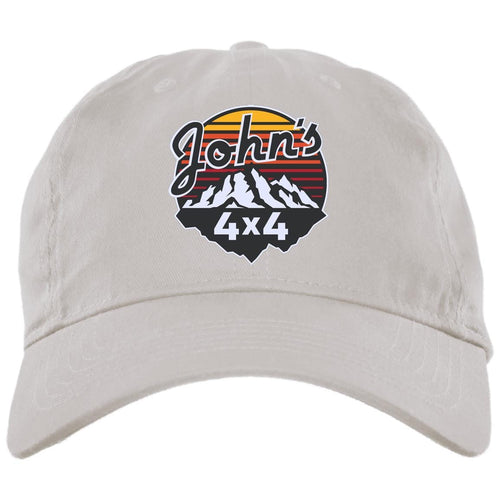John's 4x4 embroidered BX001 Brushed Twill Unstructured Dad Cap