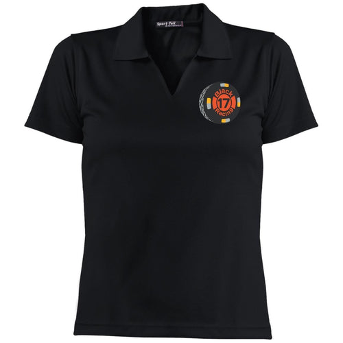 Black 17 embroidered L469 Sport-Tek Ladies' Dri-Mesh Short Sleeve Polo
