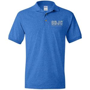 SDJC silver embroidered logo G880 Jersey Polo Shirt