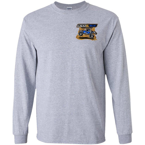 B&B Motorsports 2-sided print (Team Indiana back) G240B Gildan Youth LS T-Shirt