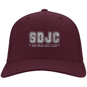 SDJC silver embroidered logo C813 Flex Fit Fullback Twill Baseball Cap