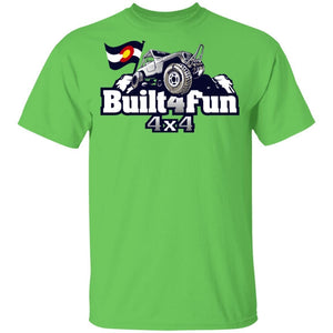 Built4Fun grey G500B Gildan Youth 5.3 oz 100% Cotton T-Shirt