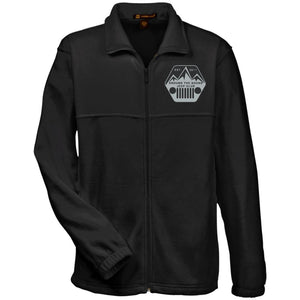 ASJC silver & black embroidered logo M990 Harriton Fleece Full-Zip