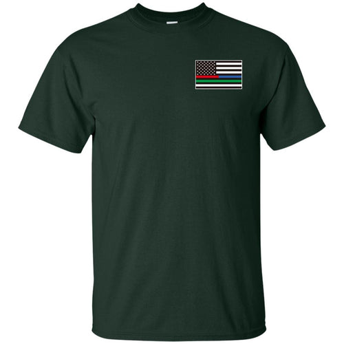 Unity Flag front, Jeeps Against Veteran Suicide back G200 Gildan Ultra Cotton T-Shirt