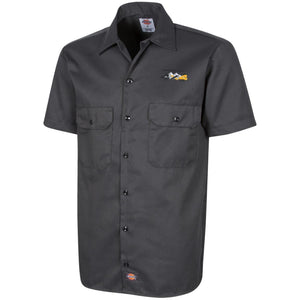 HMR embroidered logo 1574 Dickies Men's Short Sleeve Workshirt