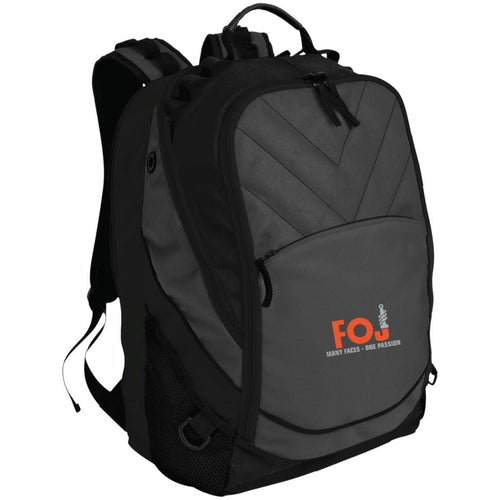 FOJ silver embroidered BG100 Port Authority Laptop Computer Backpack