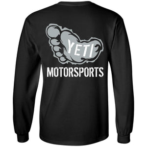 Yeti Motorsports logo 2-sided print G240B Gildan Youth LS T-Shirt
