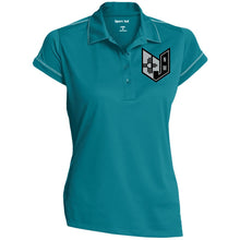 Wicked Jeeps NM embroidery Black & Silver LST659 Sport-Tek Ladies' Contrast Stitch Performance Polo