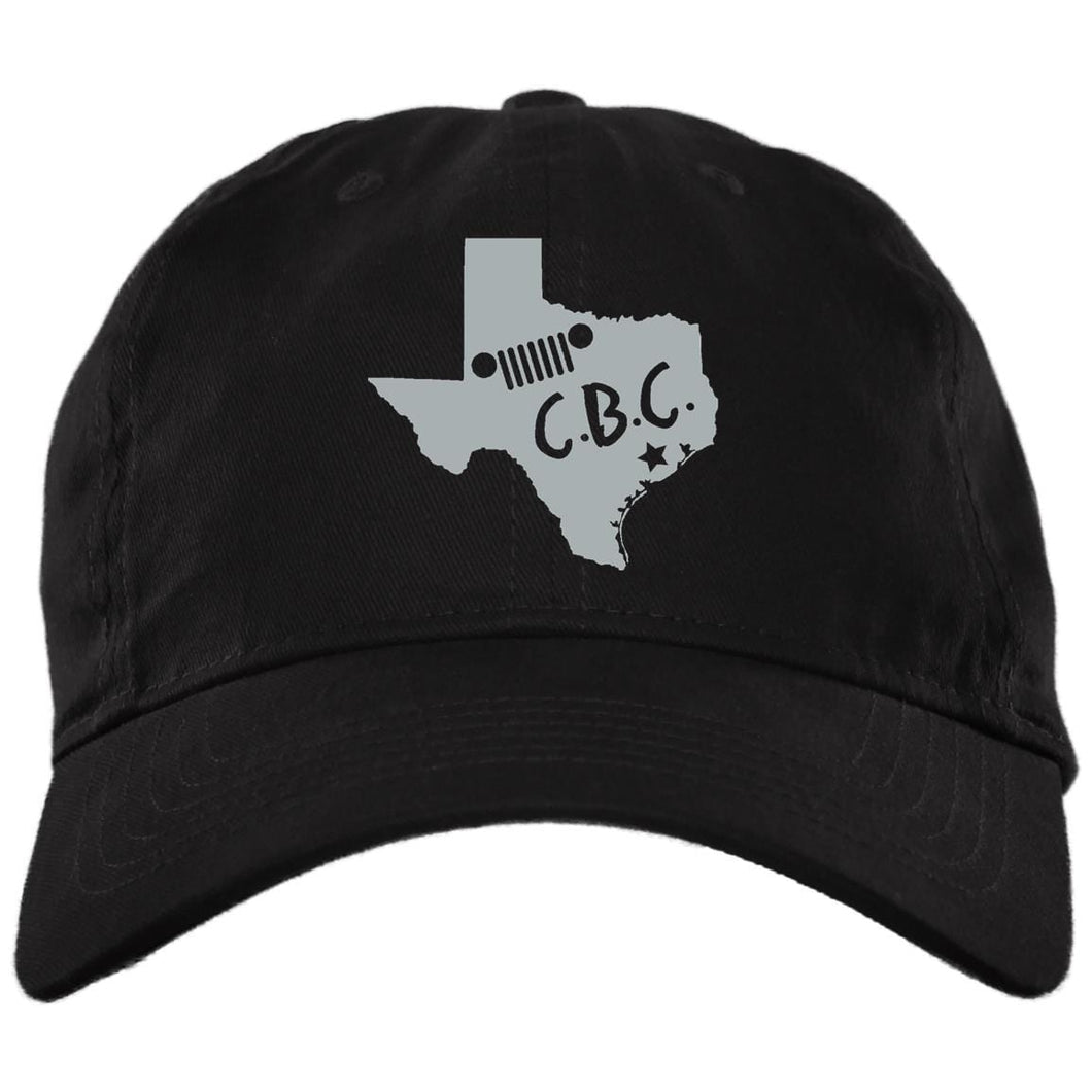 C.B.C. embroidered silver logo BX001 Brushed Twill Unstructured Dad Cap