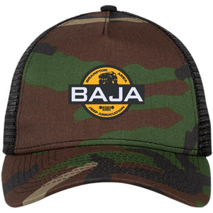 BAJA embroidered logo NE205 New Era® Snapback Trucker Cap