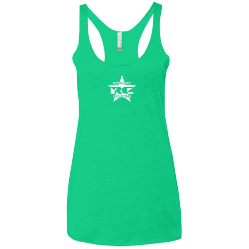 Rodriguez Customs 2-sided print NL6733 Next Level Ladies' Triblend Racerback Tank