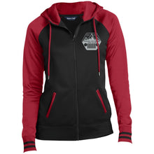 ASJC silver & black embroidered logo LST236 Sport-Tek Ladies' Sport-Wick® Full-Zip Hooded Jacket