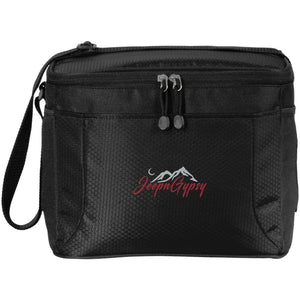 JeepnGypsy silver & red embroidered BG513 12-Pack Cooler