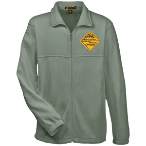 Adventure Bound Offroad gold embroidered logo M990 Harriton Fleece Full-Zip