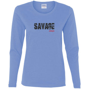 Savage Jeeps G540L Gildan Ladies' Cotton LS T-Shirt
