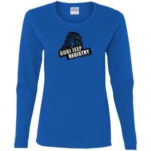 Gobi Jeep Registry G540L Gildan Ladies' Cotton LS T-Shirt