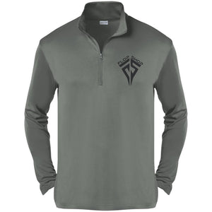 Flop Shop black embroidered logo ST357 Sport-Tek Competitor 1/4-Zip Pullover