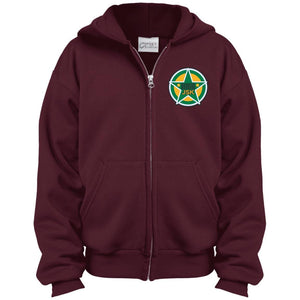 JSK_Star embroidered logo PC90YZH Port & Co. Youth Full Zip Hoodie